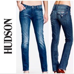 Hudson Distressed Low Rise Straight Leg Jeans 27 4